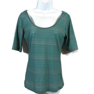 Bongo Striped Top Juniors Size Medium